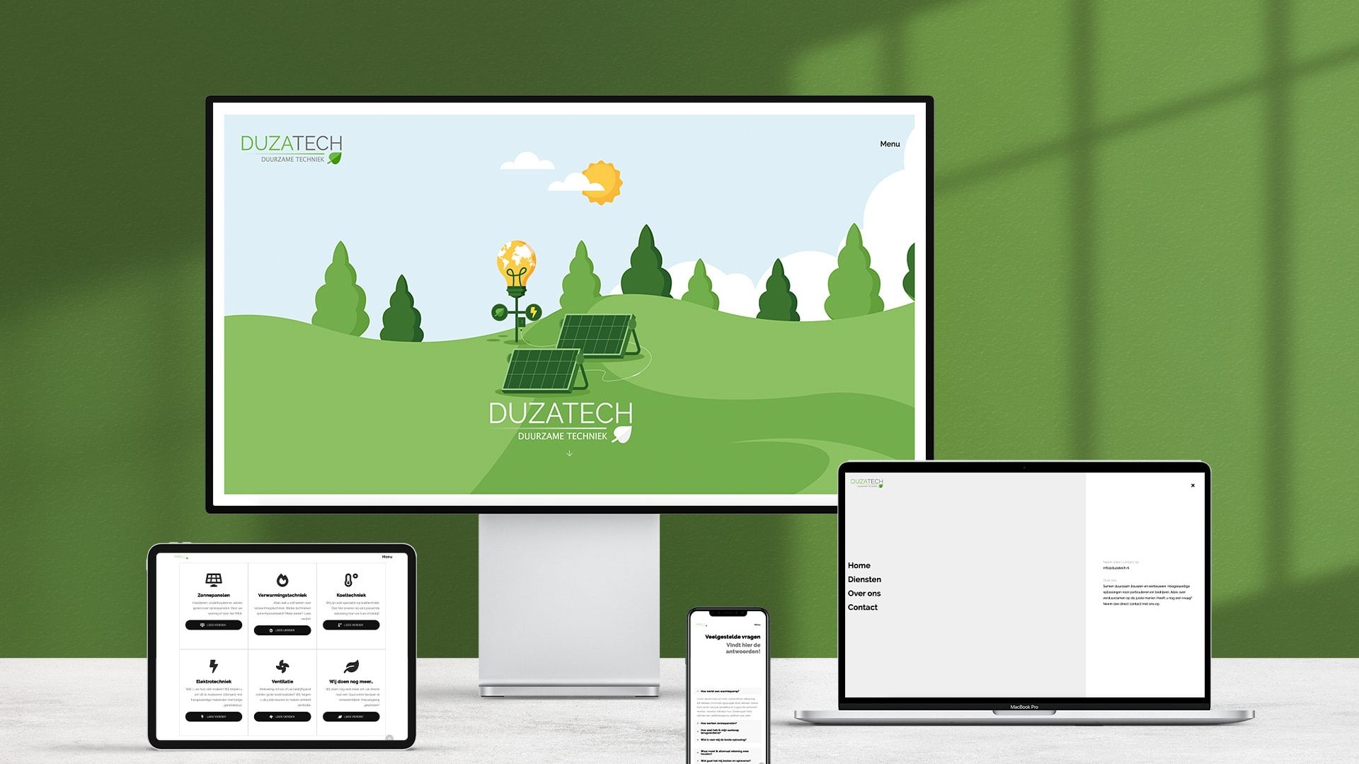 Duzatech website Concept